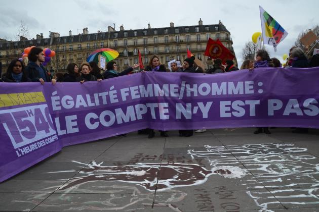 Marche du 8 mars à Paris